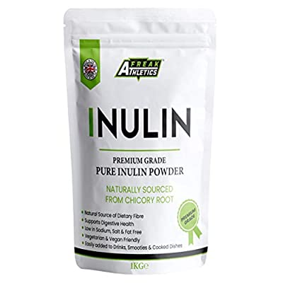 Inulin Powder 1kg - High Grade Fibre Powder - Resealable Pouch Scoop Included - Made in The UK