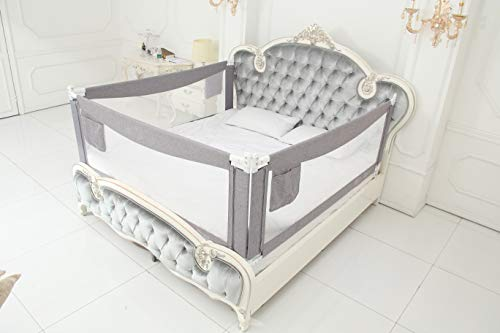 """Bed Rails for Toddlers - 60"""" 70"""" 80"""" Extra Long Baby Bed Rail Guard (3 Sides: Perfect for California King Bed, Include 3 Sides)"""
