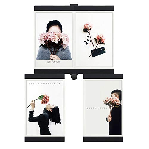 XINHANGXIAN Multi-frame Photo Frame Highly Wall DIY Collage Picture Frame With Magical Module Home Decor Multifunctional Photo Frames Set fashion (color : Black)