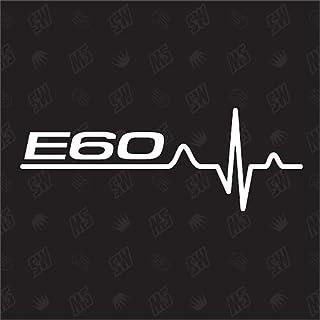 speedwerk motorwear E60 Herzschlag   Sticker für BMW, Tuning Fan Aufkleber