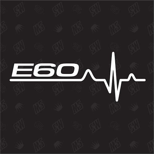 speedwerk-motorwear E60 Herzschlag - Sticker für BMW, Tuning Fan Aufkleber