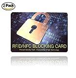 ✅ [ Lot de 2 ] Carte Anti RFID NFC - Protection des Cartes Bancaires sans Contact - Plus Besoin d'étuis, placez Cette Carte dans Votre Portefeuille ou Votre Sac Contre Le piratage des données - (x2)