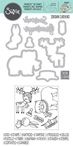 Sizzix Set di Fustelle Framelits 8 pz Natale in Stile Country by Jordan Caderao, Multicolore, taglia unica