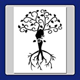 8 X 10 Stencil/Template Tree of Life Wiccan Spiral Goddess Branches/Roots/Leaves/Pagan