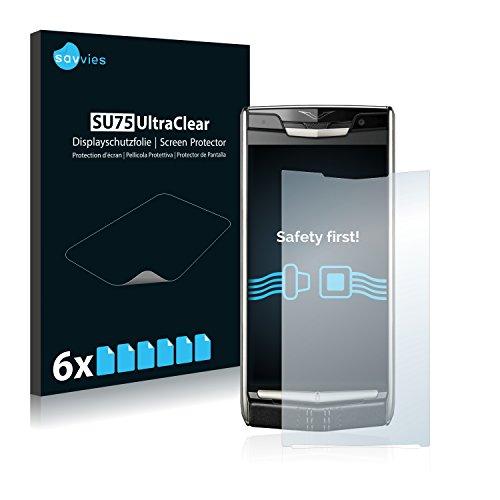 Savvies 6X Schutzfolie kompatibel mit Vertu New Signature Touch Bildschirmschutz-Folie Ultra-transparent