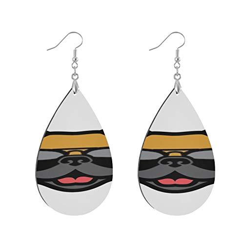 XHYYY Teardrop Wooden Earrings Drop Dangle Earings Lightweight French Bulldog...