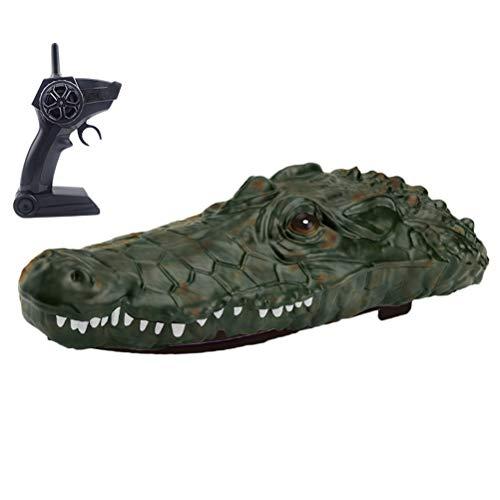 Deeabo RC-Krokodilkopf, Simulierendes Schwimmendes RC-Boot 2. 4G Ferngesteuertes Elektrisches Rennboot-Parodie-Spielzeug, 2-Kanal-Betriebssimulation Wasser Schwimmendes Parodie-Spielzeug*