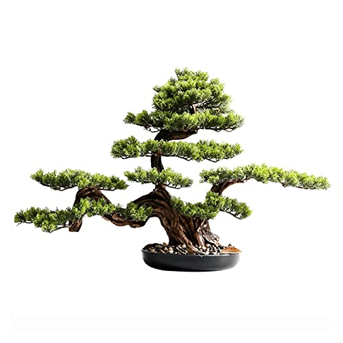 Simulation Potted Plant 21 Inches Simulation Welcoming Pine, Artificial Pine Tree Green Plants Potted Decoration, for Decoration Desktop Display(With Cleaning Brush) Artificial Plant Decoration