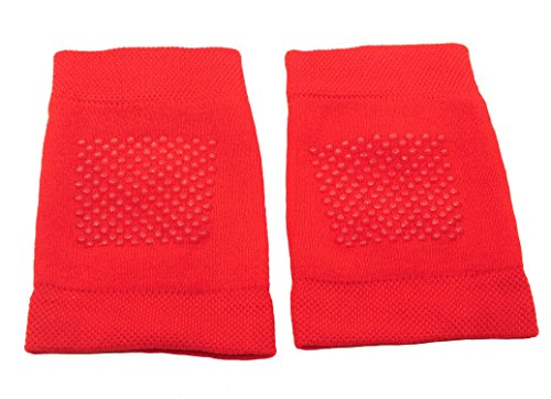 Shimasocks Shimasocks Baby Knieschoner Krabbelhilfe Knieschutz, Farben alle:rot, Größe:one size 3er Pack