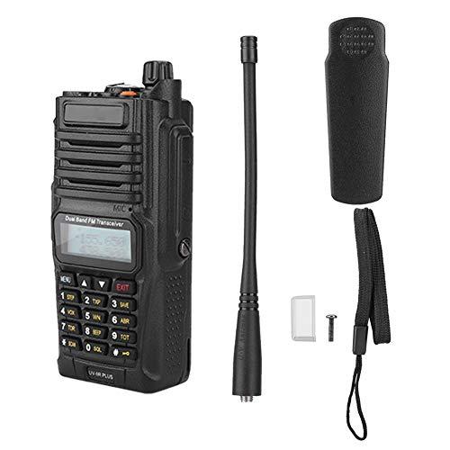 ASHATA Walkie Talkie Recargable UV-9R Plus VHF Radio de Largo Alcance UHF Bidireccional Walkie Talkie con Auriculares Base de...