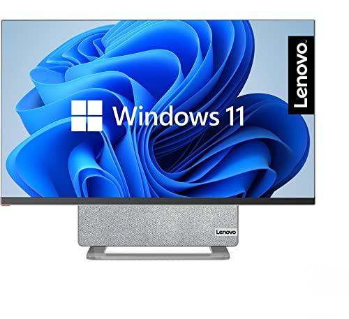 Lenovo Yoga AIO 7 68,58 cm (27 Zoll, 3840x2160, UHD, WideView, entspiegelt) All-in-One Desktop-PC (AMD Ryzen 7 5800H, 16GB RAM, 1TB SSD, AMD Radeon Grafik, Windows 11) grau-weiß inkl. Premium Care