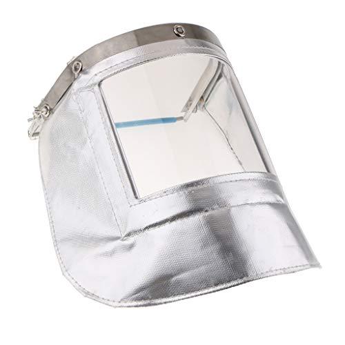 Almencla Casco para Soldar - Pantalla Facial Resistente Al Calor - Máscara para Soldar con Lentes Transparentes, Anti-UV