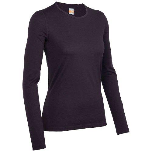 Icebreaker Damen Funktionsunterhemd Oasis Langarm Crewe, cognac, XL, 100514