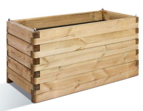 Jardinière en bois Oléa rectangulaire 100