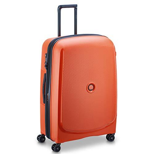 DELSEY PARIS - BELMONT + - Valise rigide extensible 4 doubles roues - 76 cm, orange