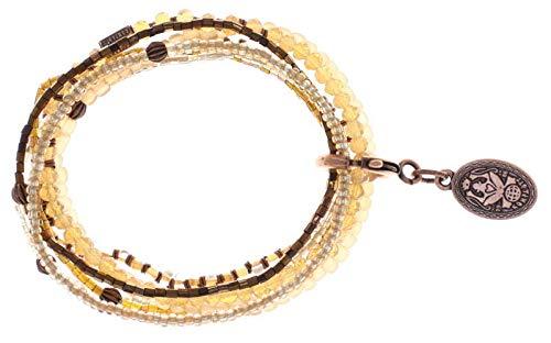 Konplott Armband Elastic Petit Glamour d´Afrique beige antik Kupfer