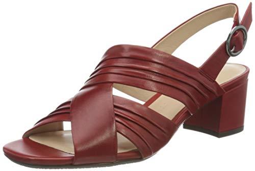 Gerry Weber Shoes Damen Faro 08 Slingback Sandalen, Rot (Rot 400), 38 EU