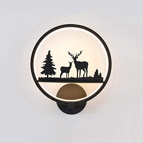 LILIS lámpara de pared Apliques Ligh pared creativo cubierta dormitorio de noche LED de ahorro de energía Hierro forjado ligero de la pared de acrílico Pantalla decorado Escaleras Pasillo Pasillo pare