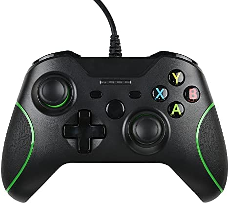 FTFVaska Manette pour Xbox One Manette Filaire Contrôleur Double Vibration Compatible avec Xbox One/Xbox One S/Xbox One X Console et PC Windows 7/8 / 10