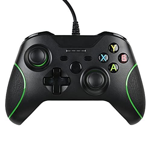 FTFVaska Wired Controller Xbox One Gamepad per Giochi USB Cablato Joypad Joystick di Gioco Microsoft Windows 7/8/10 Joystick per Xbox One/Xbox One X/Xbox One S/Xbox Series X/S