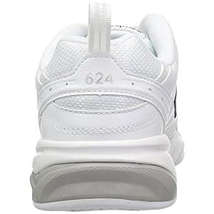 New Balance Women's 624 V2 Casual Comfort Cross Trainer, White, 9 W US