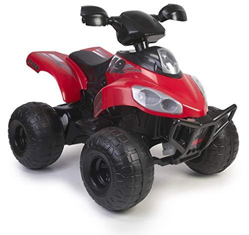FEBER- Quad Motion, Vehículo eléctrico a batería, 12 V, Rojo (Famosa 800012652)