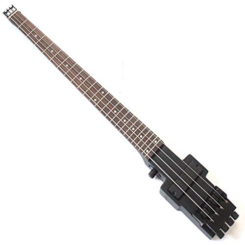 Elektrischer Bass für unterwegs, ohne Kopf, Schwarz