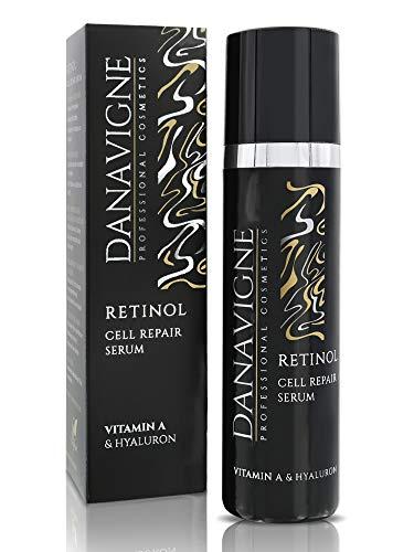 DANAVIGNE Retinol Serum hochdosiert - Straffendes Anti Aging Gel gegen Falten und Pigmentflecken - Vitamin A Booster Gesichtsserum mit Hyaluron - 1er Pack (1 x 50ml)