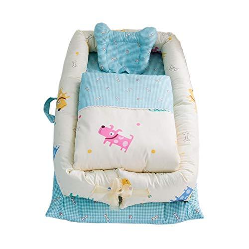 Juego de 3 camas de bebé para cuna de bebé transpirable Soft Co-Sleeping, nido para bebés y bebés móviles (color : B)