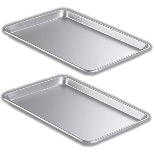 Bakeware Set – 2 Aluminum Sheet Pan – Half Size (13' x 18') – for Commercial or Home Use. Non Toxic, Perfect Baking Supply set for gifts, for new and experienced bakers alike