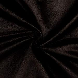 Fabric Grand Slam Suede Black, Fabric by the Yard