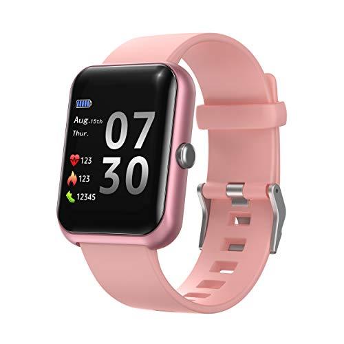 Septoui Smartwatch Damen Herren Fitnessuhr IP68 Touchscreen 1,3 ' Fitness Tracker Pulsuhr Schrittzähler-Schlafmonitor-Stoppuhr Herzfrequenzmesser, Blutdruck, Aktivitätstracker für iOS Android Handy