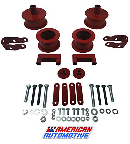 American Automotive fits Wrangler JK Red Full Lift Kit 2.5' Front + 2' Rear Steel Coil Spacers + Shock Extenders Suspension Leveling Kit 2WD 4WD