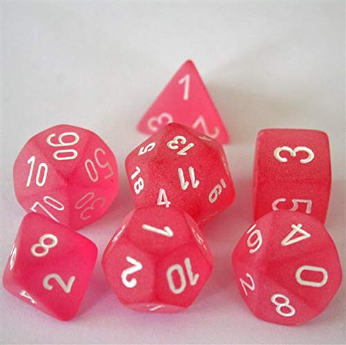 Chessex Frosted Pink Dice Set