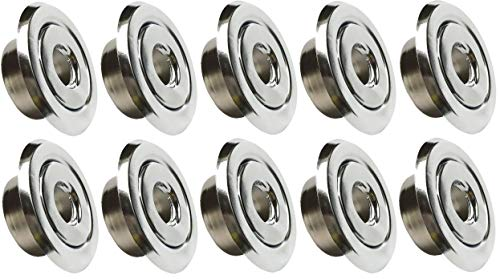 Happy Tree (10 Pack) 1/2' IPS Fire Sprinkler Head Semi-Recessed Escutcheon Plate 2 Piece Cover Ring Chrome