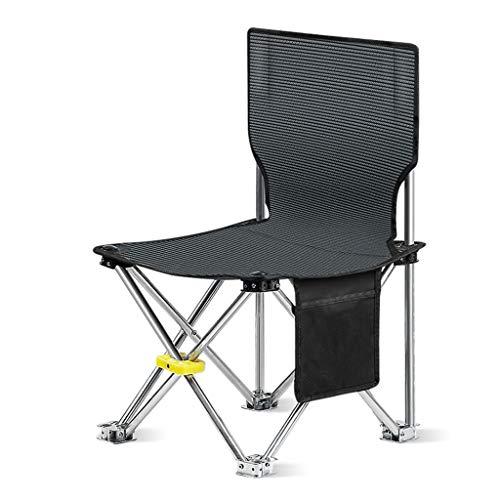 LP Bar stool Chaise De Camping, Chaise Pliante Portable pour La RandonnéE, Fauteuil, Camping, Chasse, Regarder des Matchs De Football, PêChe, Pique-Nique, Barbecue (Bleu, Noir)
