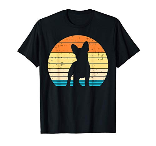 French Bulldog Sunset Retro Frenchie Dog Lover Owner Gift T-Shirt