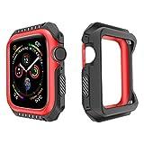 PZZZHF Mire el Parachoques de Shell para Apple Watch 3 2 1 38mm Caso de 42 mm TPU + PC Funda de Armadura para iWatch 4 5 40 mm Funda de protección de Marco de 44 mm