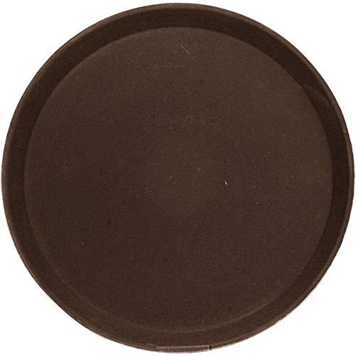 Cambro 1400CT-138 lade niet-slip rubberen oppervlak rond, kauwgom, bruin
