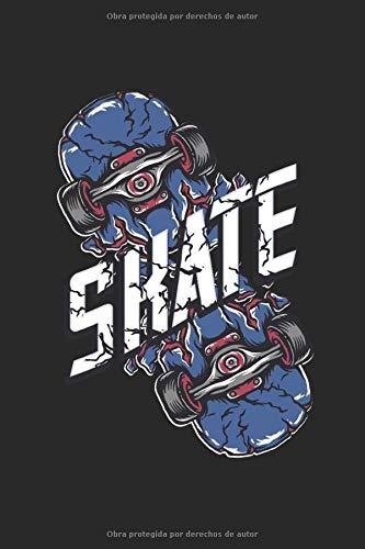 Skate: Libreta con forro de regalos deportivos para patinadores (formato A5, 15,24 x 22,86 cm, 120 páginas)