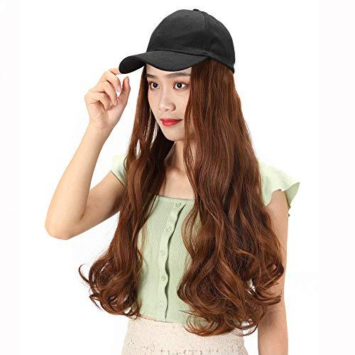 pruiken Hoed pruik een vrouwelijke zomer grote golf lange krullende pruik pruik cap water rimpel krullende pruik