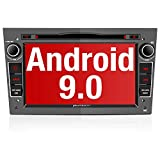 PUMPKIN Android 9.0 Autoradio Radio für Opel Astra Corsa Zafira mit Navi DVD Player Unterstützt Bluetooth DAB+ USB CD DVD Android Auto MicroSD 2 Din 7 Zoll Bildschrim Grau
