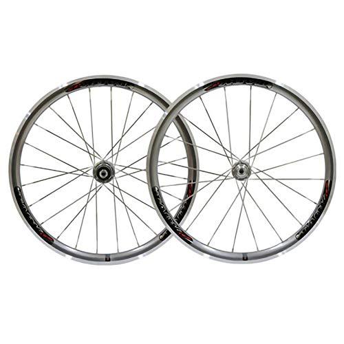 MTB Juego Ruedas Bicicleta,20 Pulgadas Llanta de Doble Piso Lado del Coche CNC Aleación de Aluminio Apto para Bicicletas Rueda de Bicicleta Silver,20 Inch