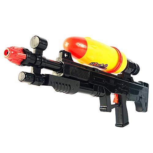 Nerd Clear Wasser-Pistole ca. 69 cm | Wassergewehr großer Reichweite | Sommer-Spielzeug Spritzpistole für Kinder und Erwachsene