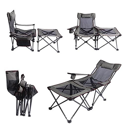 CFMZ Silla de Pescar Multiusos, Silla Plegable Camping 150kg, Silla Playa Plegable...