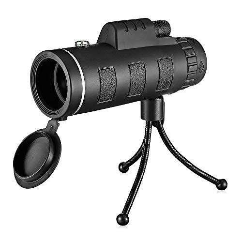VIER Monoculaire Telescopen, Nachtzicht Waterdichte Scope voor Volwassenen met Telefoon Fotografie Adapter en Telefoon Statief voor Vogels Horloge/Jagen/Camping/Reizen/Wandelen