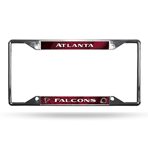 NFL Rico Industries Easy View Chrome License Plate Frame, Atlanta Falcons