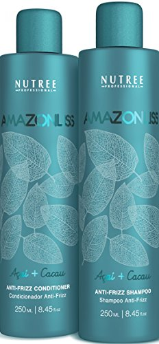 Amazonliss Home Care Anti Frizz After Care Post Treatment Shampoo and Conditioner Set - For Keratin Treated Hair - Prolongs the Smooth Effect - Leaves Hair Incredibly Soft and Shiny (8.45 fl.oz)