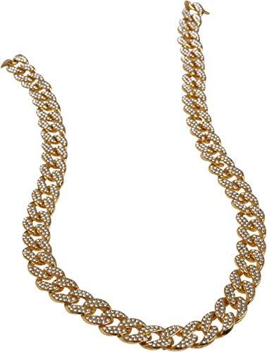 Urban Classics Unisex Heavy Necklace With Stones Kragenknopf, Gold (Gold 00109), (Herstellergröße: One Size)