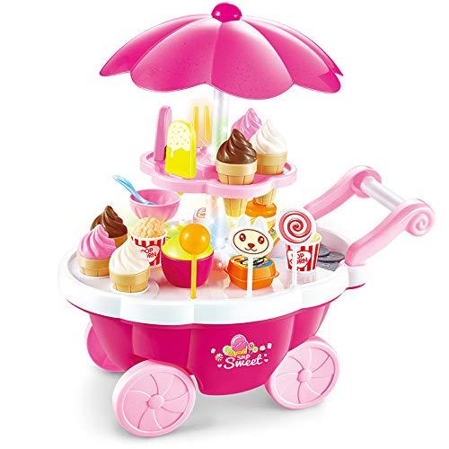 Lying Eiscreme Spielzeug,Eisständer EIS-Party,Lebensmittel Küchenspielzeug Rollenspiele für Kinder Jungen Mädchen